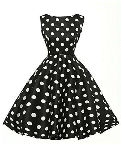dragonpad-womens-1950s-vintage-polka-dot-sleeveless-swing-dresses-with-belt-black-l