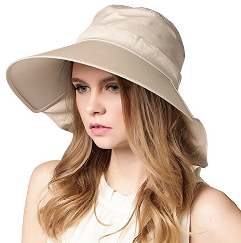 [Bienvenu Sun Protective Hat Women's Foldable Big Brim Beach Hat Cap] (Womens Halloween Ideas)