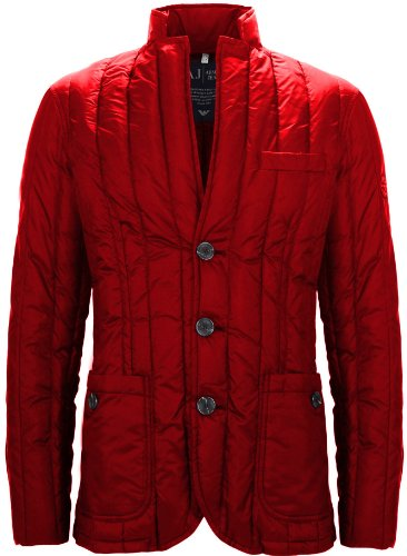 Armani Jeans Men's Quilted Jacket Red (XXXXL)