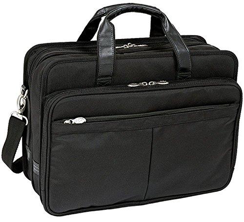 mcklein-usa-walton-r-series-nylon-17-double-compartment-laptop-case-in-black