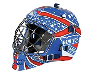 Franklin Sports NHL New York Rangers SX Comp GFM 100 Goalie Face Mask