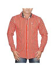 Hunk Men's Red Cotton Shirt