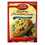 Betty Crocker Cookie Mix, Rainbow Chocolate Candy, 17.5-Ounce Pouches (Pack of 12)