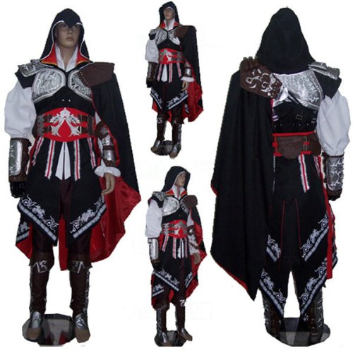 Assassin's Creed 2 II Ezio cosplay Kostüm halloween Kostüm mens,Größe XXL:(170-175cm,60-70 kg)