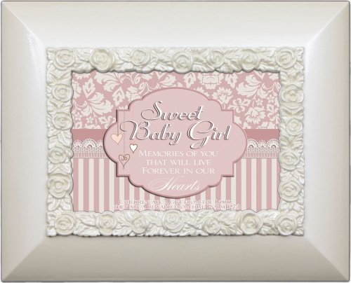 Cottage Garden Sweet Baby Girl Glossy Ivory Photo Album