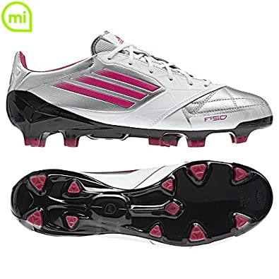 Buy Adidas F50 Adizero Fg White Silver Pink Leather Soccer Cleats Women Shoes v21440 by adidas