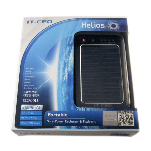 Hi Capacity Portable 5600mAh Li-Polymer Solar Charger for the Amazon Kindle 2nd & Latest Generation / Kindle DX (Wi-Fi Free 3G 6in. 9.7in.), Handheld Devices, iPhone, iPod, iPad, LG, Samsung, Motorola Smart Phone, Cellphones, Galaxy Tab and MP3, GPS, Navigator, PSP, etc. With USB Interface. Black