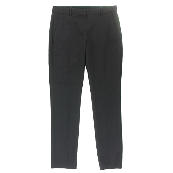 Theory Womens Louise Straight Leg Creased Dress Pants