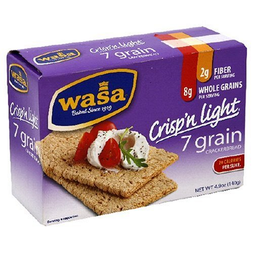 Wasa Crisp 'n Light 7 Grain, 4.9-Ounce Boxes (Pack of 10)