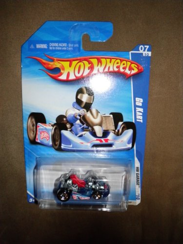 2010 HOT WHEELS HW GARAGE 075/240 BLUE GO KART 07/10