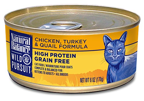 Natural Balance Wild Pursuit Chicken, Turkey & Quail Canned Cat Formula