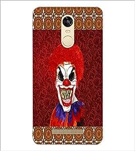 PrintDhaba Scary Joker D-4067 Back Case Cover for XIAOMI REDMI NOTE 3 (MEDIATEK) (Multi-Coloured)