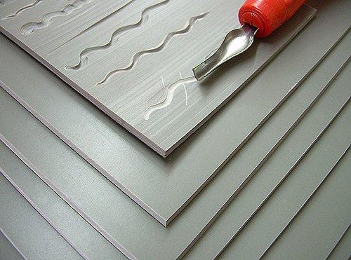 Easy to Cut Unmounted Linoleum- 8x10 Inch Sheet