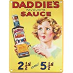 S1069 SMALL DADDIE'S SAUCE METAL ADVERTISING WALL SIGN RETRO ART