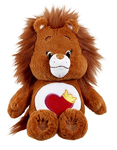 vivid-imaginations-care-bears-cousins-brave-heart-lion-plush-toy-with-dvd-medium-multi-colour