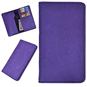 DSR Pu Leather case cover for Celkon A402 (purple)