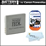 Battery Kit For Canon Powershot ELPH 310 HS ELPH 100 ELPH 300 SD960 IS SD940 IS SD780 IS SD1400 IS Digital Camera Includes Extended Replacement (900 maH) NB-4L Battery + LCD Screen Protectors + MicroFiber Cleaning Cloth ~ ButterflyPhoto