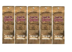 5 Lot Designer Skin Freedom Ultra Dark Tanning Accelerator DHA Free Bronzers Tanning Lotion Sample Packets Samples Packettes