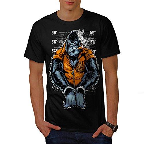 gorilla-ape-prison-wild-monkey-men-new-black-l-t-shirt-wellcoda