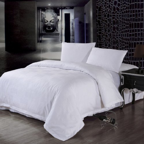Daloyi Hotel Prime: 4-Piece Sheet Set For Queen - Square Swirl- Jf30013