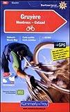 Hallwag Kummerly & Frey AG Gruyère 15 k&f (r) cycle map GPS Montreux/Gstaad