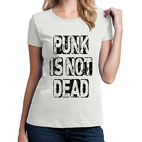 Punk Is Not Dead-Maglietta da donna bianco medium