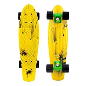 "Penny Authentic Original Plastic Vinyl Cruiser Skateboard Complete 22"" (Marble Yellow/Black) by Penny"
