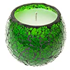 Large Green Mosaic Wax Votive