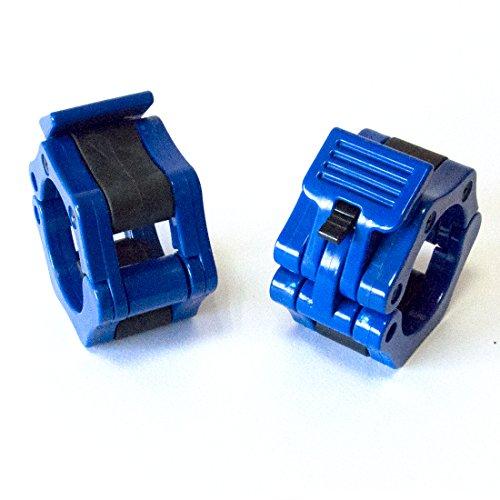 1 Coppia di 2 inch/50mm Quick Release Olimpico Lock-mascella Dimensioni Bilanciere morsetto collare Bar ABS blu