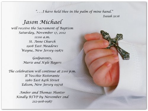 Baptism Invitations Photo front-270467