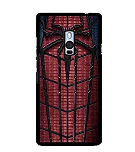 Printvisa Spider Man Web Back Case Cover for One Plus Two::One Plus 2::One+2