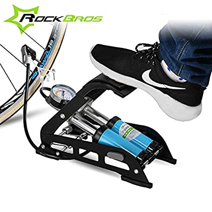 Generic Standard Single : ROCKBROS High Pressure Multifunction Tire Valve Bicycle Air Inflatable Pump Foot Inflator with Gauge for Car Vehicle Motorcy available at Amazon for Rs.10442