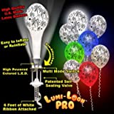 Fireworks Lumi Loons White Balloons Assorted Colored Lights 10 Pack