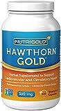 Nutrigold Hawthorn Gold (European Pharma Grade) (Clinically-proven), 300 mg, 120 veg. capsules