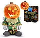 3B Global Pumpkin People Scarecrow Statue