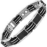 Nouveauté : Bracelet Aimanté homme en titane et Incrustations de fibre carbone noire, Ustensile ajusteur inclus