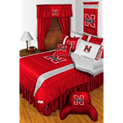 Nebraska Cornhuskers QUEEN Size 14 Pc Bedding Set (Comforter, Sheet Set, 2 Pillow... by Sports Coverage