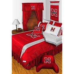 Nebraska Cornhuskers QUEEN Size 14 Pc Bedding Set (Comforter, Sheet Set, 2 Pillow... by Sports Coverage