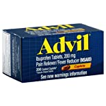 Advil Pain Reliever/Fever Reducer, 200 mg, Coated Caplets, 200 ct.