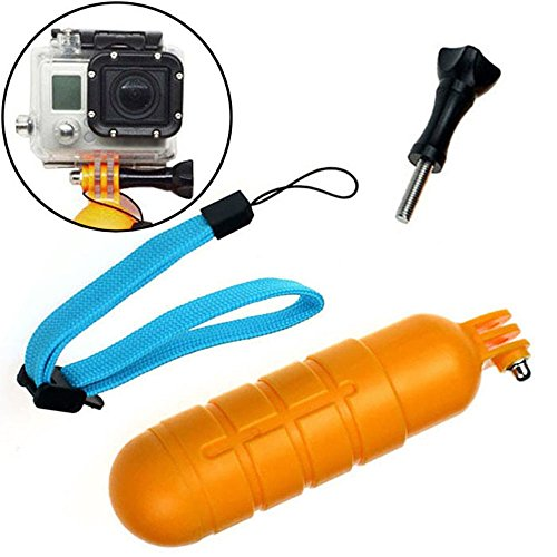 Tpt Floating Hand Grip Handle Mount Accessory With Screw For Gopro Hero 3+ 3 2 1(Orange)
