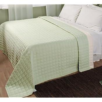 pas cher homescapes couvre lit matelass r versible 200x200cm housse en pur coton. Black Bedroom Furniture Sets. Home Design Ideas