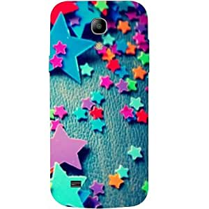 Casotec Colorful Stars Design Hard Back Case Cover for Samsung Galaxy S4 Mini