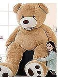 LOVESOUNDぬいぐるみ 特大 くま/テディベア 可愛い熊 動物 大きい くまぬいぐるみ/熊縫い包み/クマ抱き枕/お祝い/ふわふわぬいぐるみ (160cm, ブラウン)
