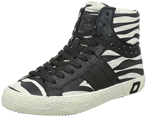 9788G sneakers donna D.A.T.E. DATE premium brand scarpe shoes women, Nero/Bianco, 38