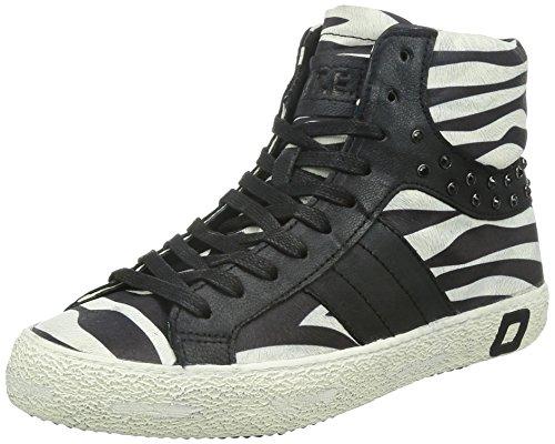 9788G sneakers donna D.A.T.E. DATE premium brand scarpe shoes women, Nero/Bianco, 38