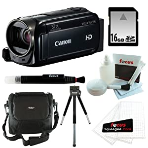 Canon VIXIA HF R500 Digital Camcorder (Black) + 16GB Accessory Kit