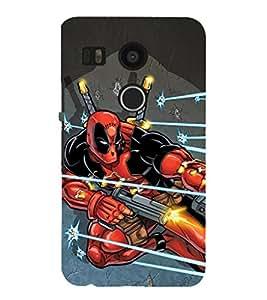 EPICCASE Superhero in Action Mobile Back Case Cover For LG Nexus 5x (Designer Case)