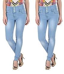 NGT Women's Twin Sky Blue Jeans