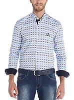 SIR RAYMOND TAILOR Camisa Hombre (Azul Claro / Azul Marino)