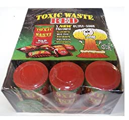 Toxic Waste RED sour candy (12-Pack)